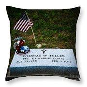 Thomas W. Teller Throw Pillow