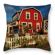 Thor Town Hostel Throw Pillow