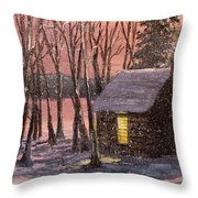 Thoreau's Cabin Throw Pillow by Jack Skinner