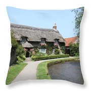 Thornton-le-dale In N.e Yorkshire Throw Pillow