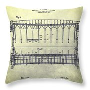 Thoroughbred Race Starting Gate Patent Throw Pillow