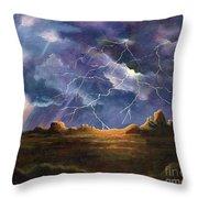Thor's Fury Throw Pillow