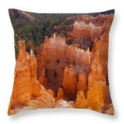 Thor's Hammer At Bryce Canyon In Utah Throw Pillow by Alex Cassels