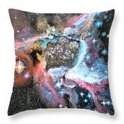 Thor's Helmet Nebula Throw Pillow