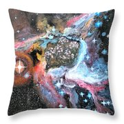 Thor's Helmet Nebula Throw Pillow