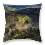 Thorsmork Valley In Iceland Throw Pillow