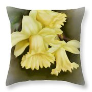 Those Blooming Daffadils Throw Pillow