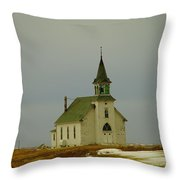 Those Old Hymns On A Snowy Day Throw Pillow
