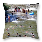Those Were The Days Throw Pillow by Karen Wiles