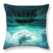Those Who Have Departed - Celestial Version Throw Pillow