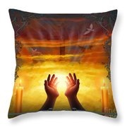 Those Who Have Departed - Religious Version Throw Pillow by Bedros Awak