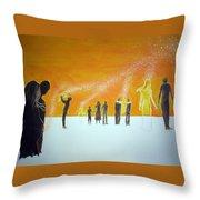 Those Who Left Early Throw Pillow by Lazaro Hurtado