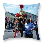 Thoth Parade Rider Throw Pillow