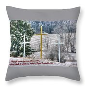 Though Your Sins Are Like Scarlet - They Shall Be White As Snow - From Isaiah 1.18 Throw Pillow by Michael Mazaika