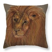 Thoughtful Lion 2 Throw Pillow