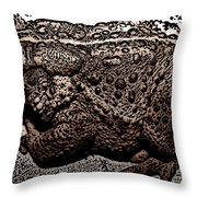 Thoughtful Toad Throw Pillow