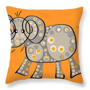 Thoughts And Colors Series Elephant Throw Pillow