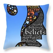 Thoughts And Words Throw Pillow
