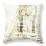 Thoughts Of A Creative Writer Throw Pillow