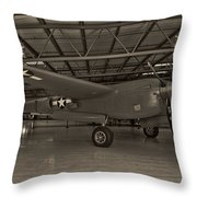 Thoughts Of Midnite P-38 3 Throw Pillow