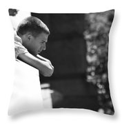 Thoughts Pushed Down  Throw Pillow