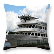 Thousand Islands Saint Lawrence Seaway Uncle Sam Boat Tours Throw Pillow