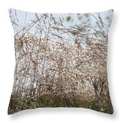 Thousands Of Shimmering Raindrops Throw Pillow