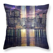 Thousands Of Yellow Ribbons Throw Pillow