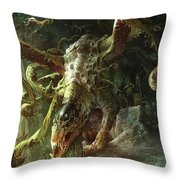Thrashing Mossdog Throw Pillow by Ryan Barger