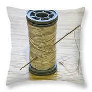 Thread And Needle Throw Pillow
