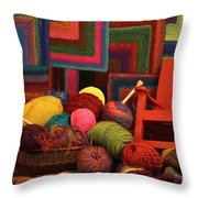 Threads Of The Soul Al Profits Benefit Hospice Of The Calumet Area Throw Pillow