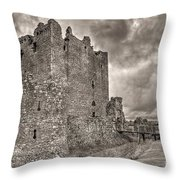 Threave Castle In Grey Throw Pillow