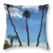 Three Abstract Palm Trees  Throw Pillow
