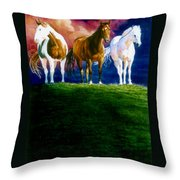 Three Amigos Throw Pillow by Hanne Lore Koehler