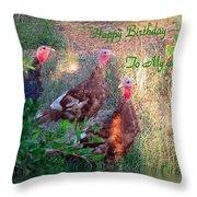 Three Amigos Happy Birthday Husband Throw Pillow
