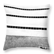 Three And A Half Bw Palm Springs Throw Pillow