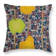 Three Apples Beat Two Pear Throw Pillow