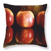 Three Apples Throw Pillow