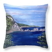 Three Arches Rock Throw Pillow