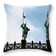 Three Armored Guards Throw Pillow