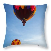 Three Balloons Throw Pillow by Inge Johnsson