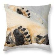 Three Bear Paws Throw Pillow