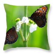 Three Beauties Throw Pillow