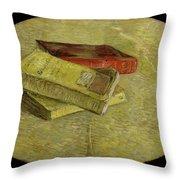 Three Books Throw Pillow