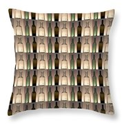 Three Bottles Collage Throw Pillow