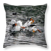 Three Bottoms Up Throw Pillow