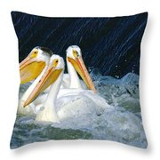Three Buddies Hanging Out Throw Pillow