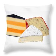 Three Cheese Wedges Throw Pillow