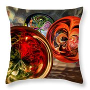 Three Colored Balls Throw Pillow