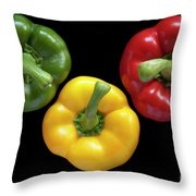 Three Colors Throw Pillow